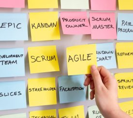 Agile Development Method Project Planning Agile Note In Woman Hand Picture Id1138311116 2